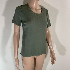 Anthropologie Cloth And Stone Ribbed Tee Shirt S
